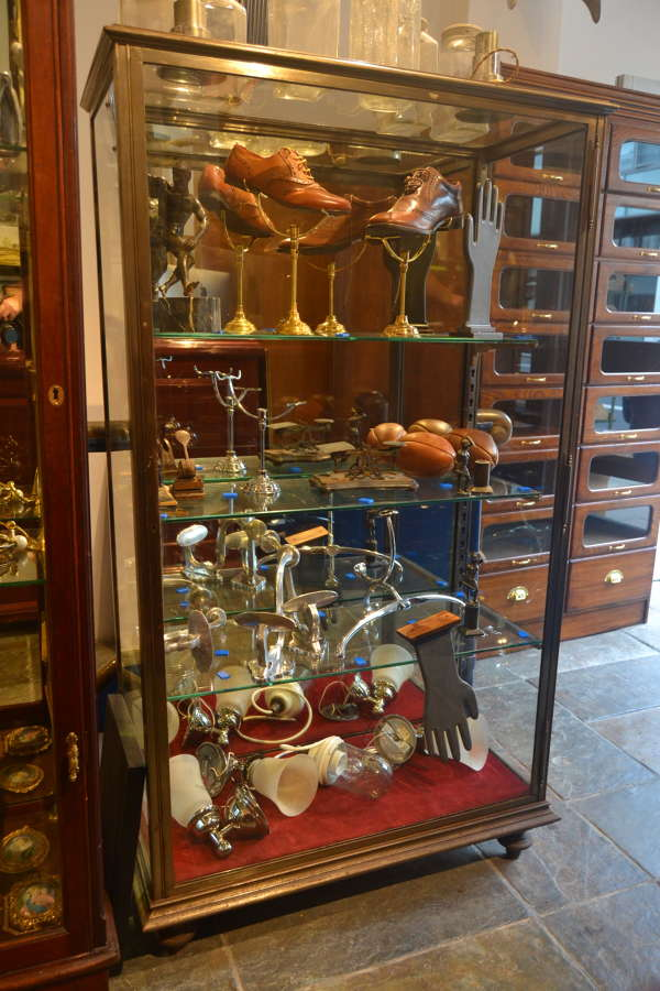 French Polished Iron Jeweller's Display Cabinet