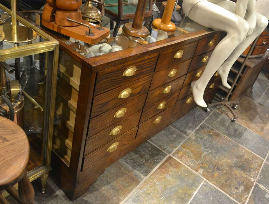 1930s Oak Haberdashery Counter