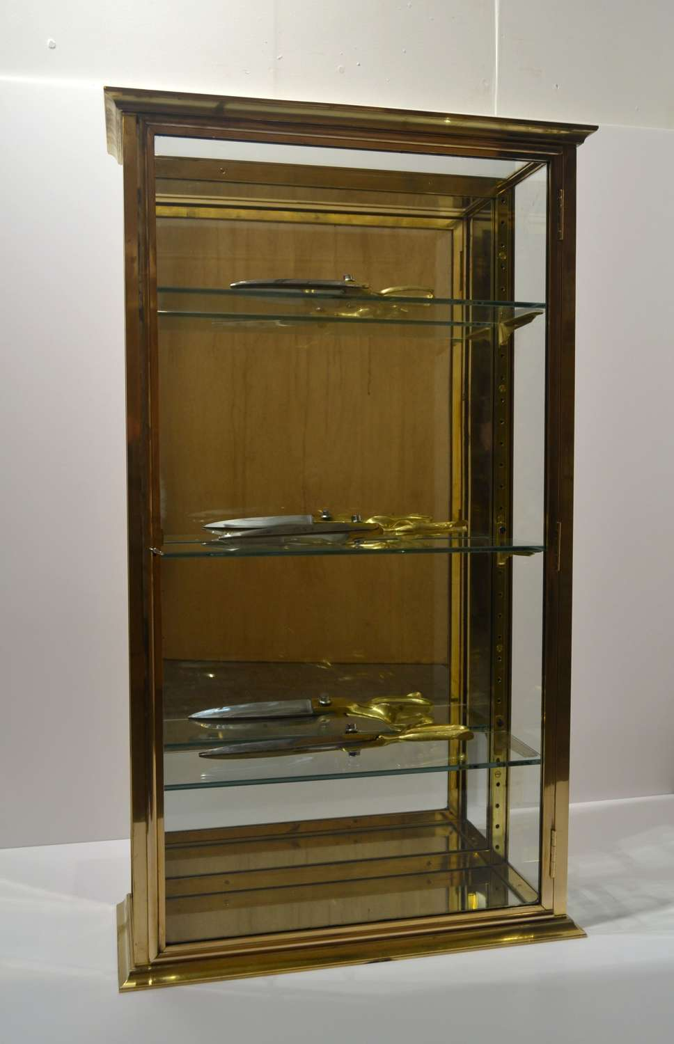 1920 Brass shop Wall display Cabinet