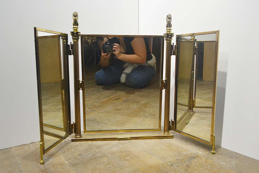Brass counter Top Three Fold Mirror from Harrods