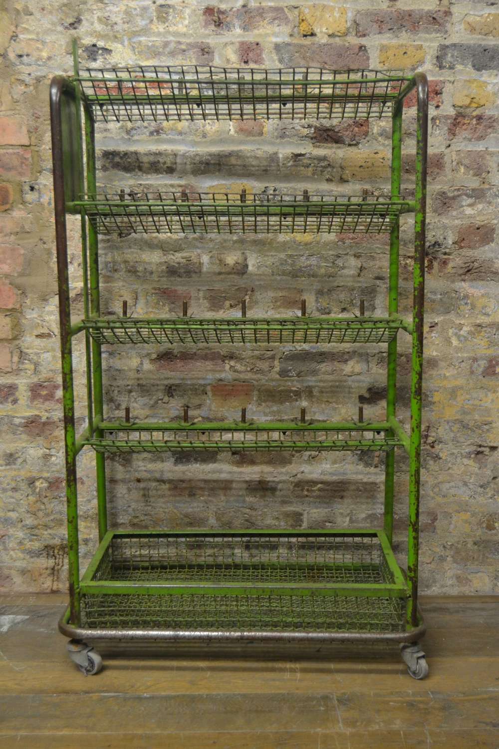 1950s Factory Shoe Trolley