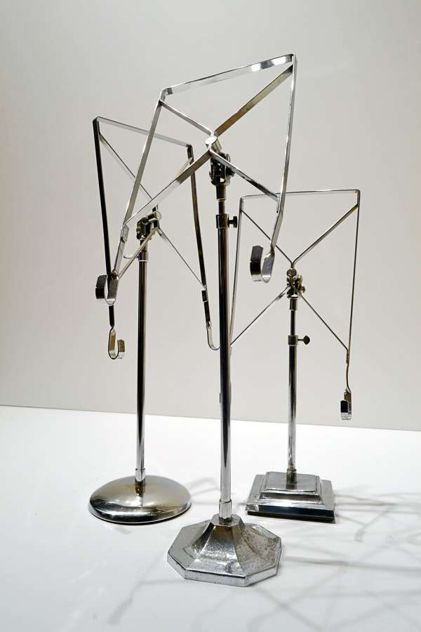 Antique Chrome Shirt Stands