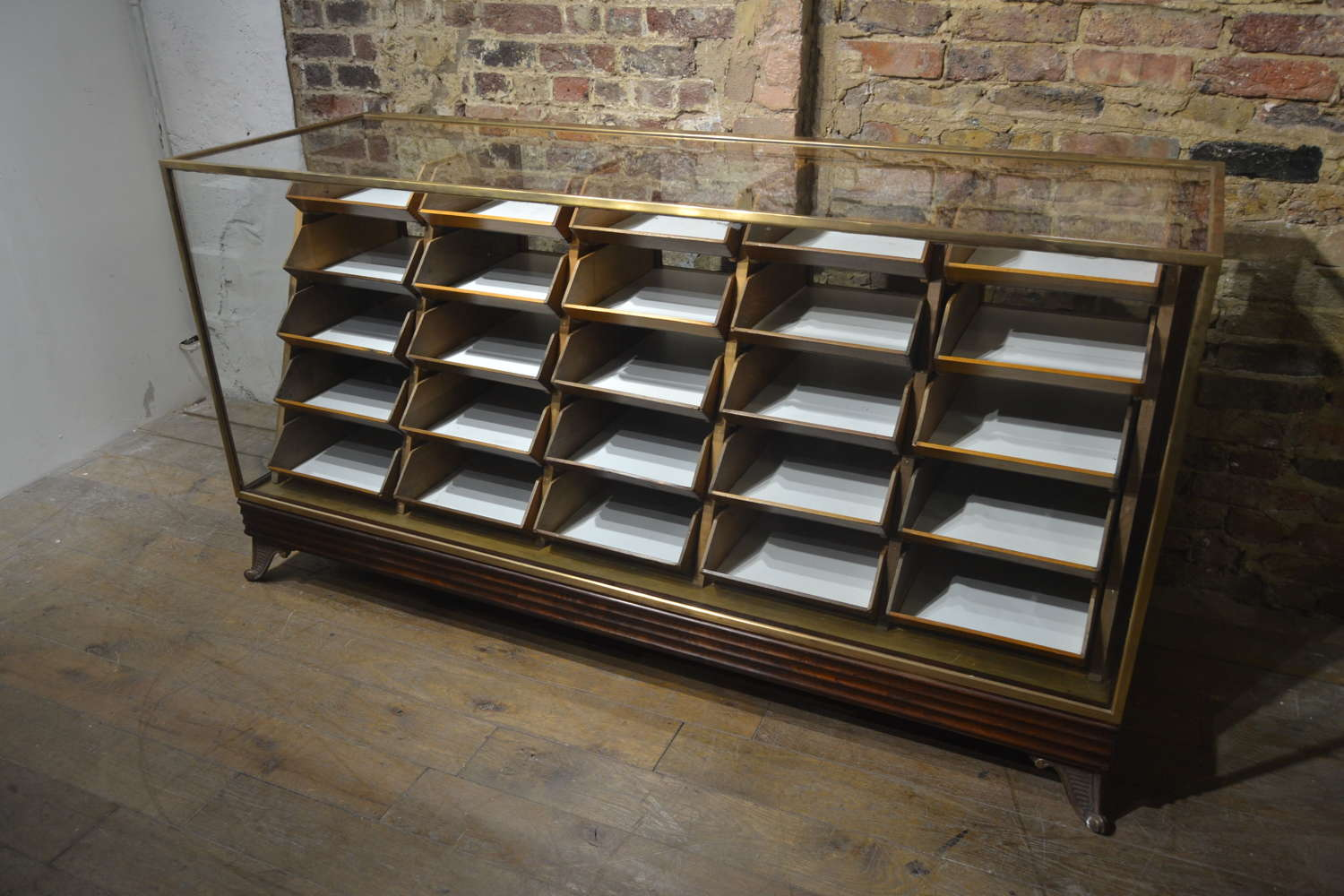 1920s Bronze Counter with Drawers