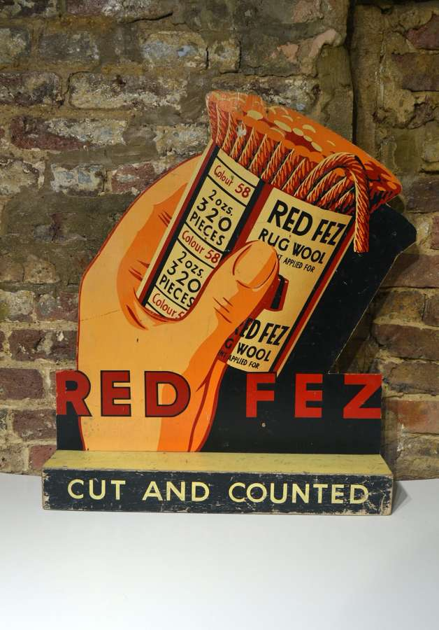 1950s Cutout and Countered Sign