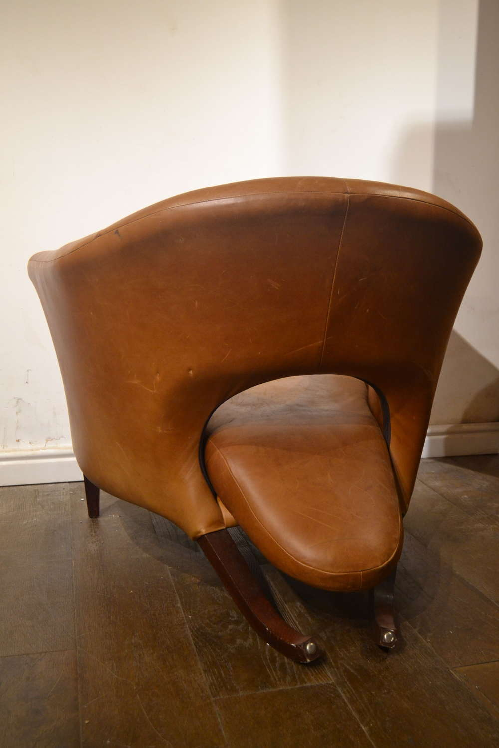 Nigel Coates Leather Tongue Chair