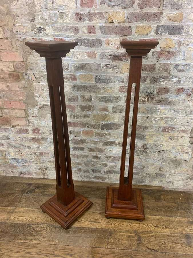 Pair of Mahogany Torcheres