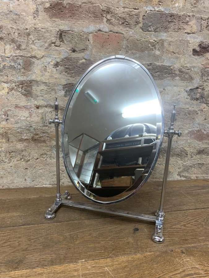 Chrome Round Mirror