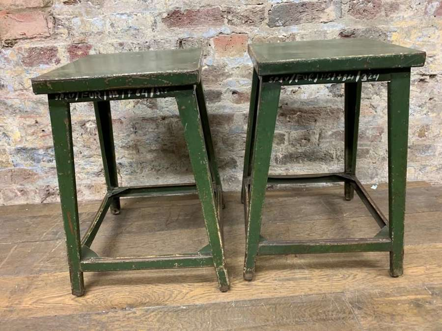 Green Iron Stools
