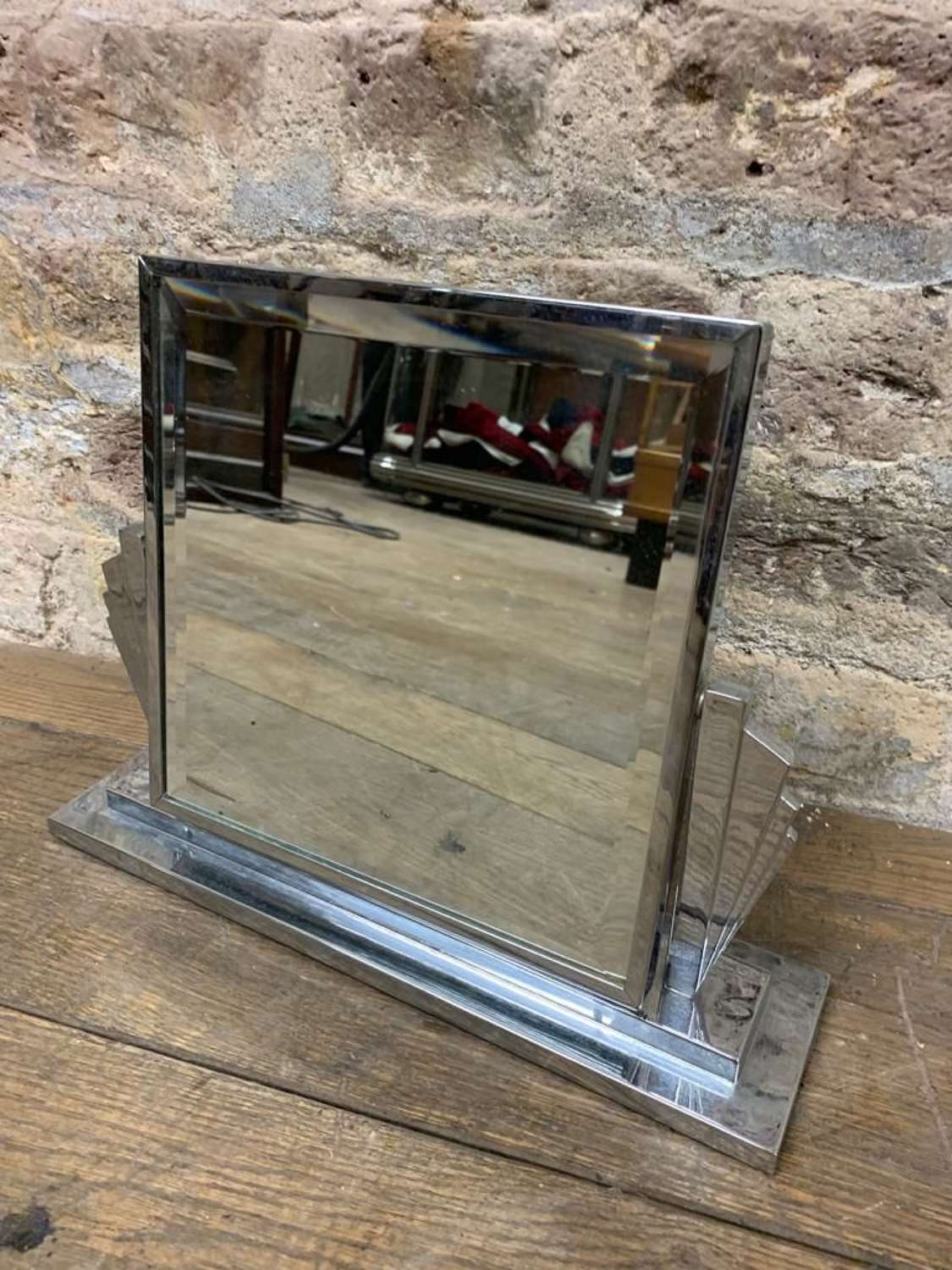 Chrome Art Deco Mirror