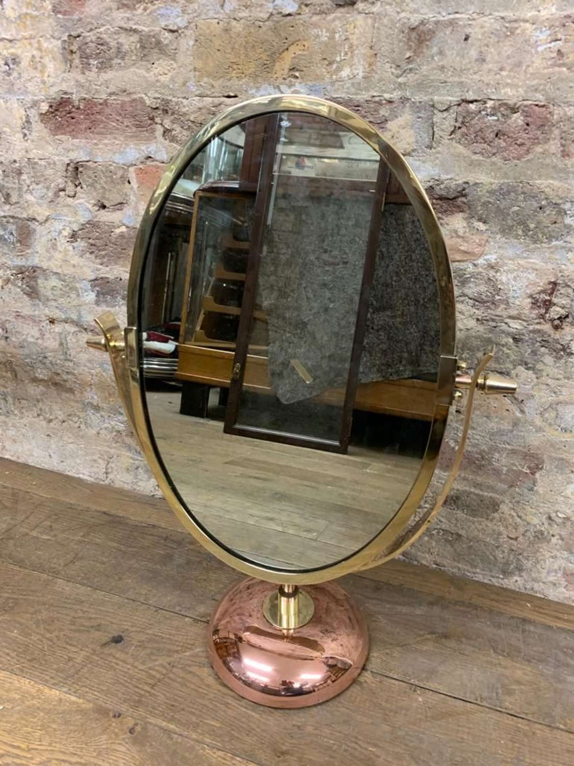 Antique Bronze Table top Mirror