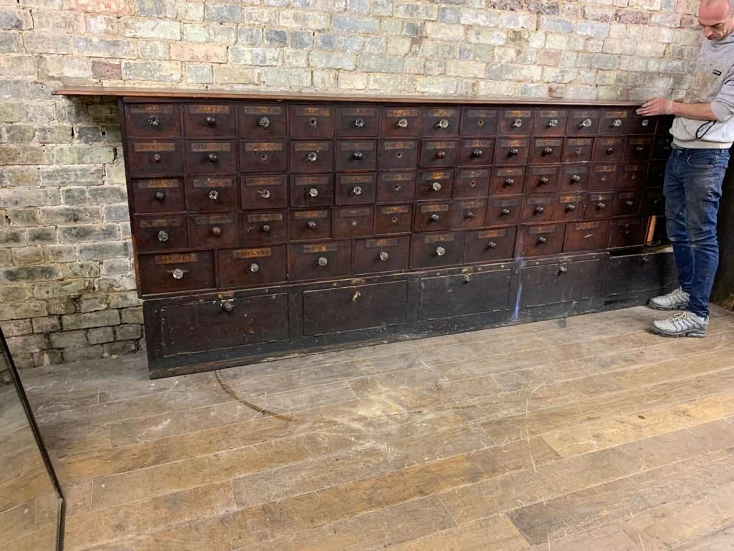 Chemist Bank of Drawers