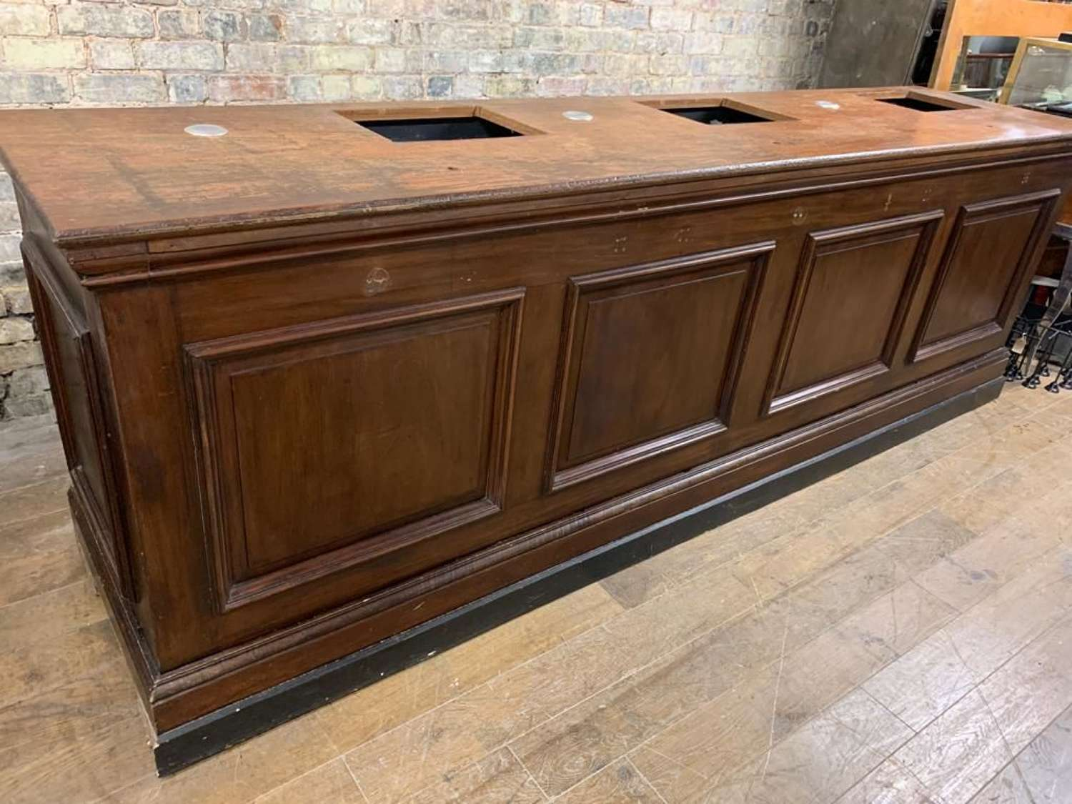 Panelled Solid Counter