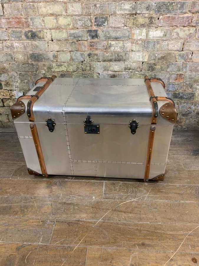 Large Chrome Trunk