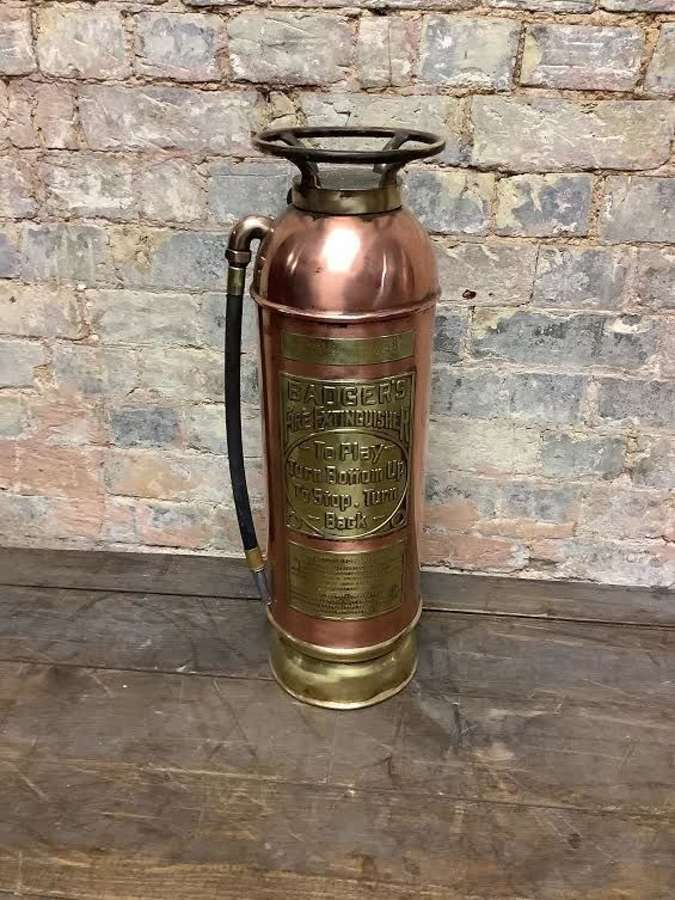 Brasss and copper fire extinguisher