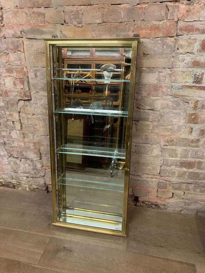 1920s French Brass Cabinet