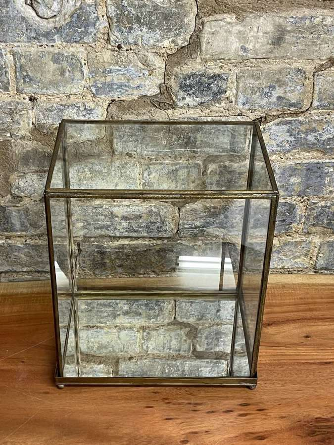 Brass Counter Top Display Cabinet